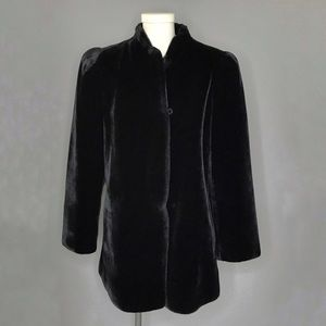 Vintage Sasson Black Faux Fur Teddy Bear Coat